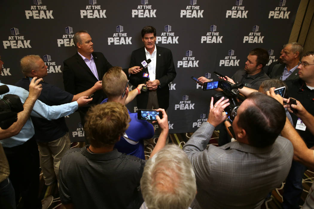 Mountain West commissioner Craig Thompson during conference football media days media days at G ...