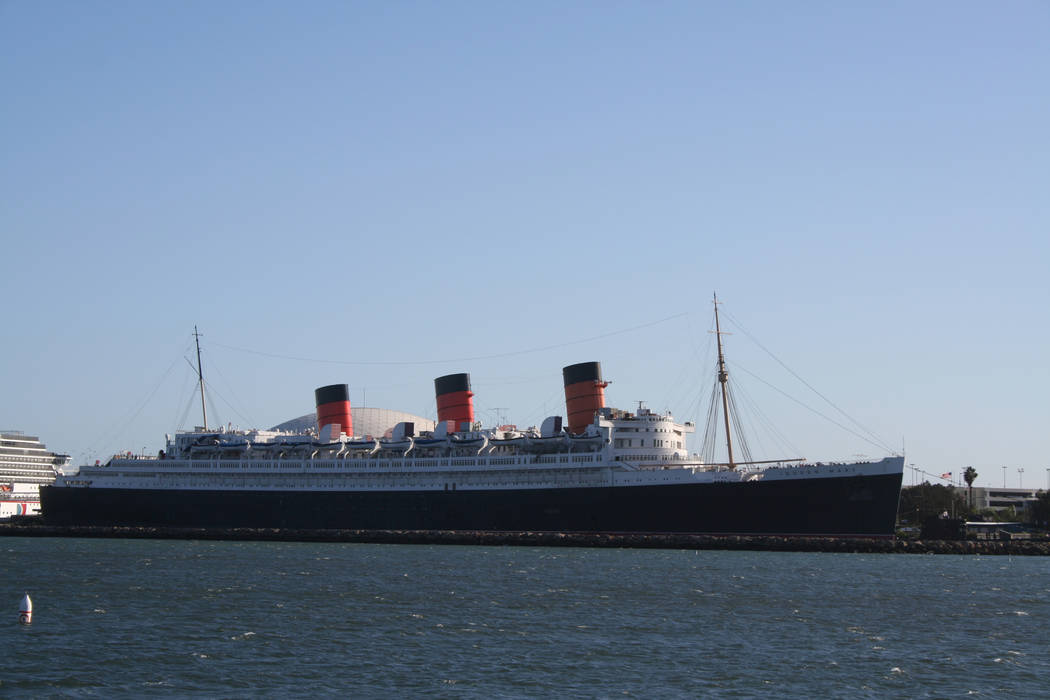 The Queen Mary is permanently docked in Long beach, Calif. now, after her final voyage in 1967. ...