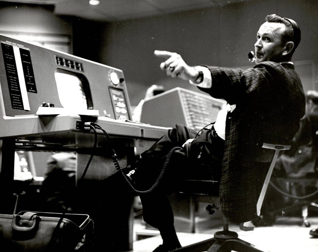 In this undated photo provided by NASA, Christopher Kraft, flight director during Project Mercu ...