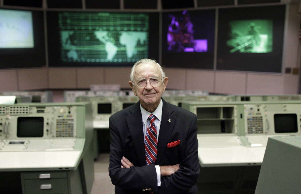FILE - This Tuesday, July 5, 2011, file photo shows NASA Mission Control founder Chris Kraft in ...