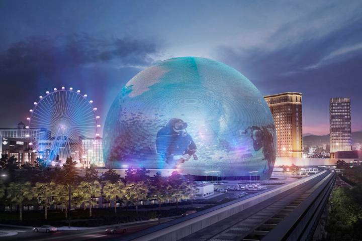 Renderings of images that MSG Sphere would be able to display (The Madison Square Garden Company)