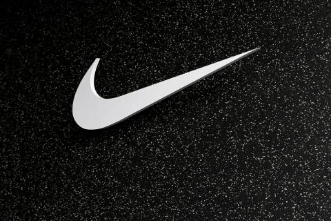 The company logo of Nike is shown at the U.S. Olympic athletics trials in Eugene, Oregon June 2 ...