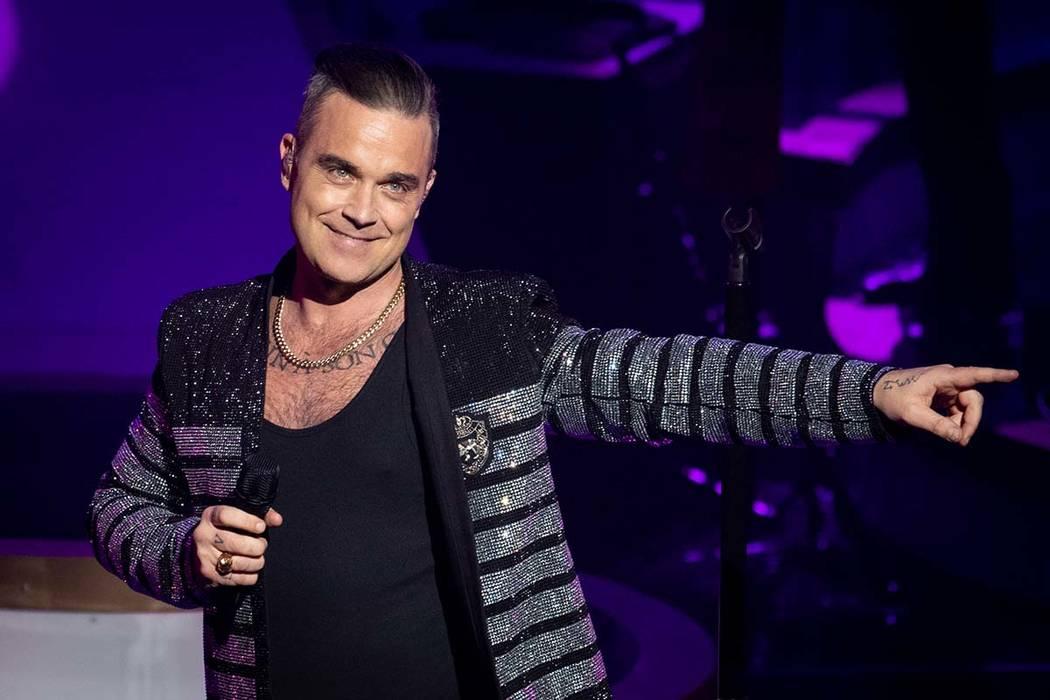"""Robbie Williams debuts his residency, """"Live In Las Vegas,"""" at Encore Theater at Wynn Las Vegas, ..."""