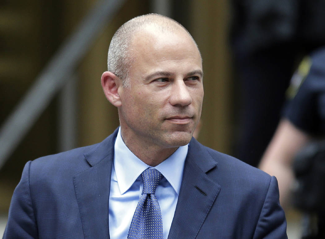 FILE - In this May 28, 2019, file photo, California attorney Michael Avenatti leaves a courthou ...