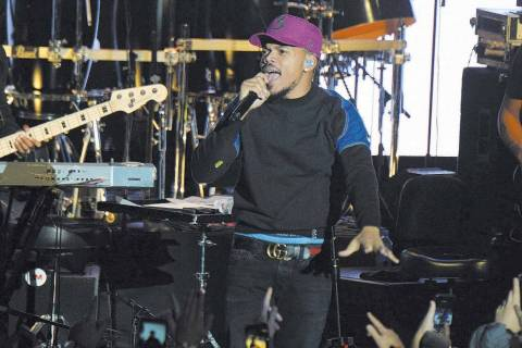 Chance the Rapper performs during the tribute event Mac Miller: A Celebration of Life on Wednes ...