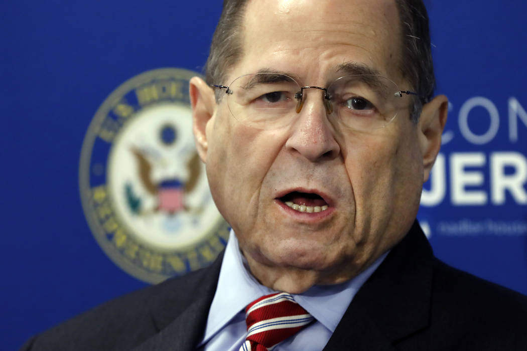 U.S. Rep. Jerry Nadler, D-N.Y., chairman of the House Judiciary Committee, speaks during a news ...