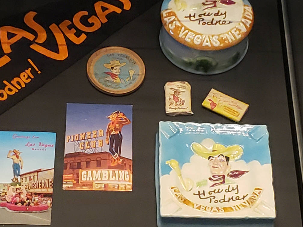 Vegas Vic is featured on pennants, postcards, miniature bars of soap and more in a new exhibit ...