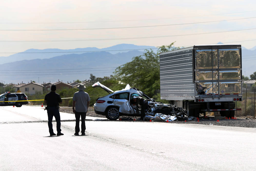 The Clark County coroner's office has identified the man who died after a white vehicle colli ...