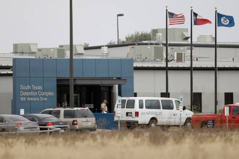 FILE - This Feb. 10, 2009 file photo shows the South Texas Detention Center is seen in Pearsall ...