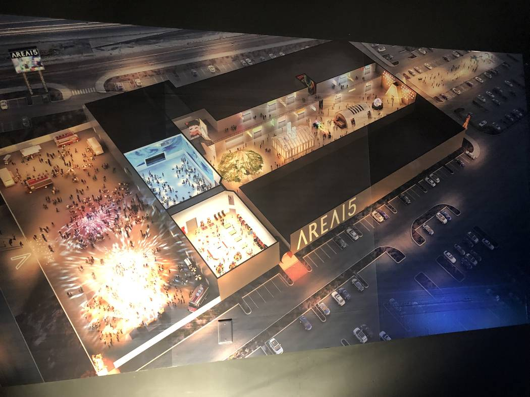 A look at the rendering of Area15 at the entertainment fortress at