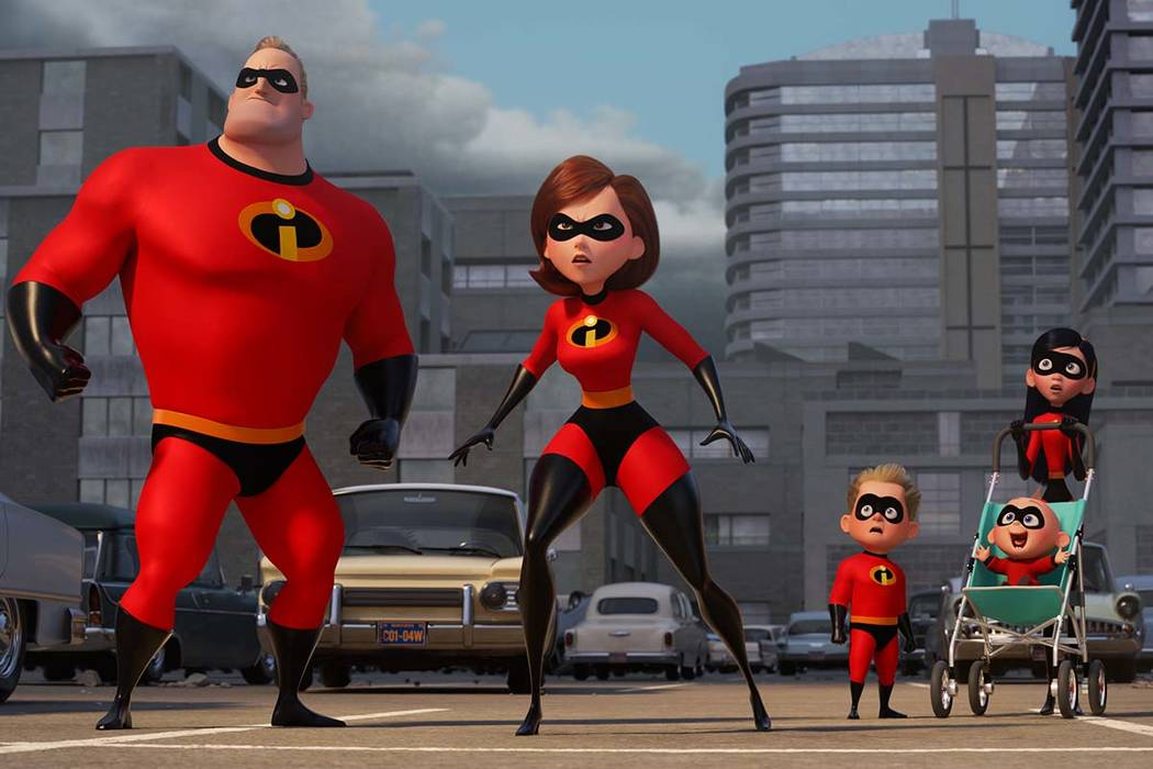 """""""Incredibles 2"""" will be shown Thursday night at Downtown Container Park. (Disney-Pixar)"""