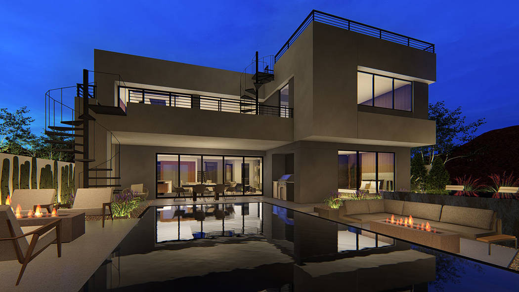 Blue Heron Vantage, on the North Shore of Lake Las Vegas, broke ground earlier this year offer ...