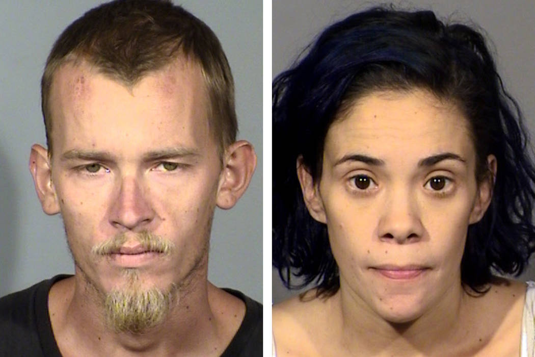 Chad Newman, left, and Haydee Razo (North Las Vegas Police Department)