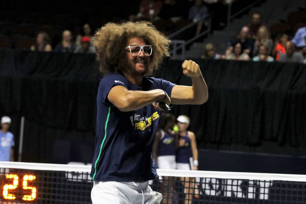 Redfoo is shown at the Vegas Rollers-New York Empire match at Orleans Arena on Tuesday, July 23 ...