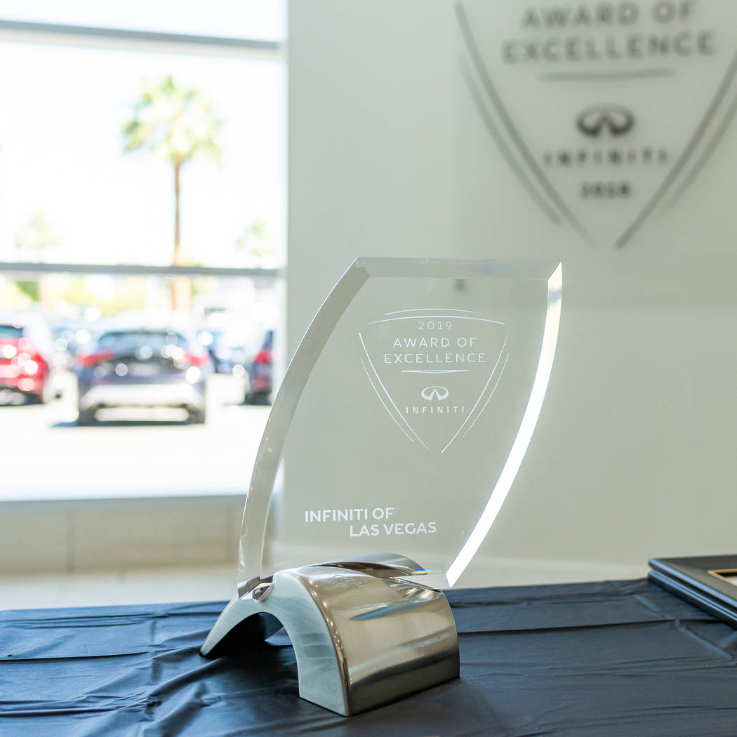 Infiniti of Las Vegas recently received a 2018 Award of Excellence. (Infiniti of Las Vegas)