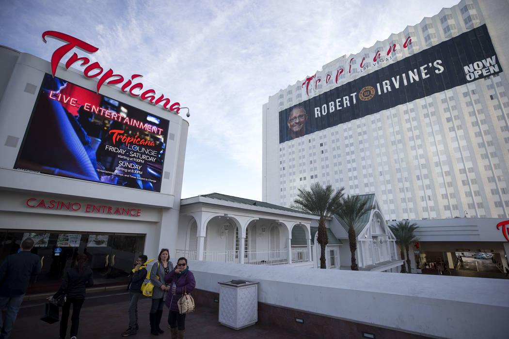 The Tropicana Las Vegas hotel-casino on the Strip, Monday, Dec. 18, 2017. Richard Brian Las Veg ...