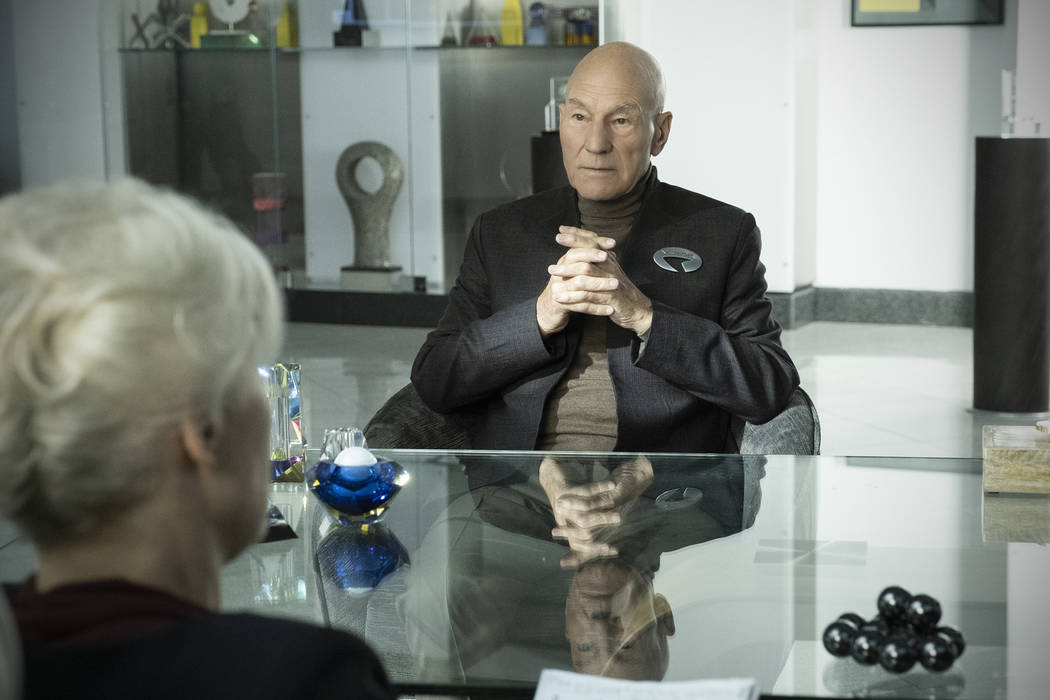 Pictured: Patrick Stewart as Jean-Luc Picard of the the CBS All Access series STAR TREK: PICARD ...