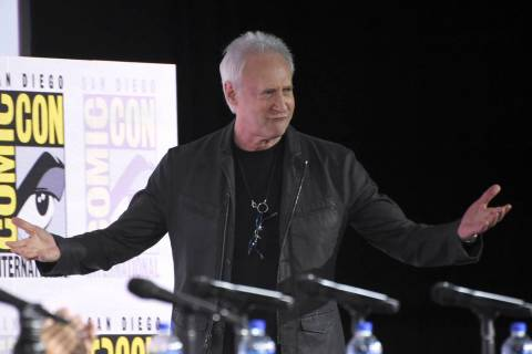 "Brent Spiner walks on stage at the ""Star Trek: Picard"" portion of the Enter the &quot ..."
