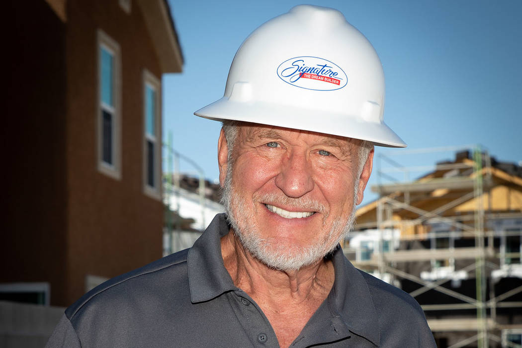 Richard Plaster, CEO of Signature Homes, won the Silver Nugget as part of a Lifetime Achievemen ...