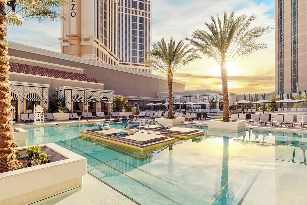 New Pool Deck At The Venetian In Las Vegas Channels