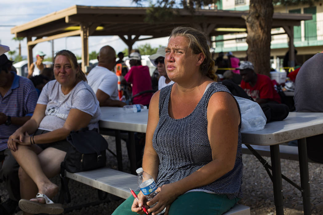 Denise Courtney speaks to the Review-Journal about her experience being homeless at the Courtya ...