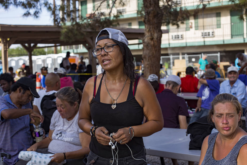 Romi Ortiz speaks to the Review-Journal about her experience being homeless at the Courtyard Ho ...