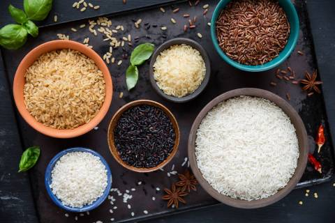Red rice, black rice, basmati, whole-grain rice, long-grain parboiled rice and arborio rice.