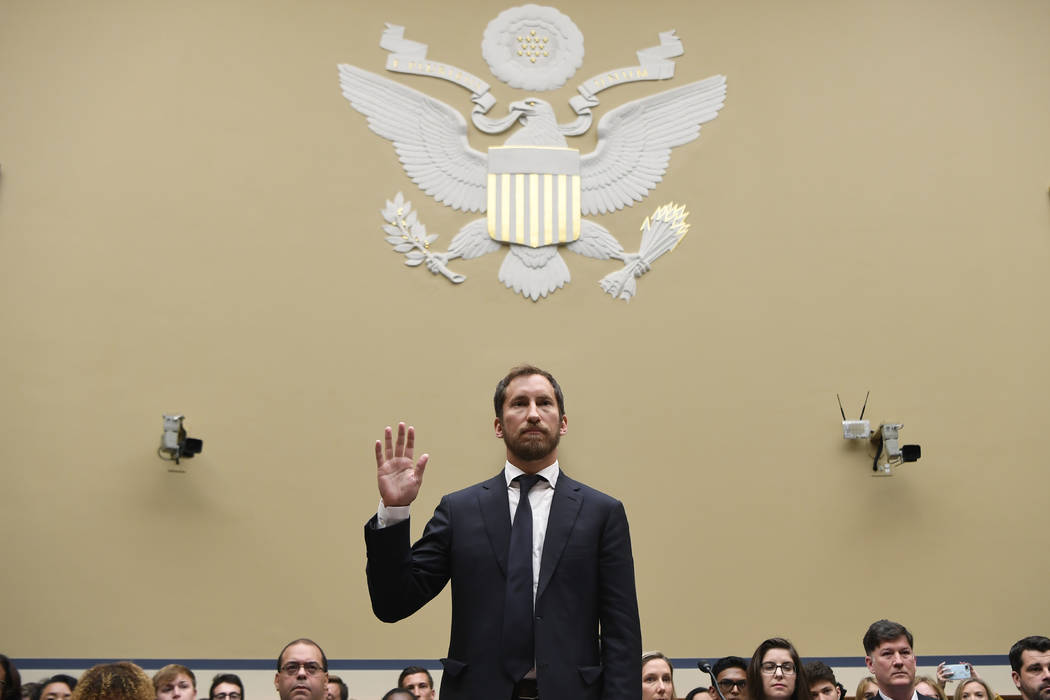 JUUL Labs co-founder and Chief Product Officer James Monsees is sworn in to testify before a Ho ...