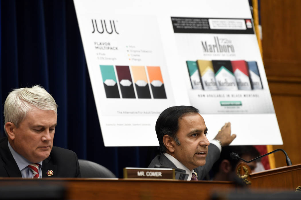 House Oversight and Government Reform subcommittee chair Rep. Raja Krishnamoorthi, D-Ill., righ ...