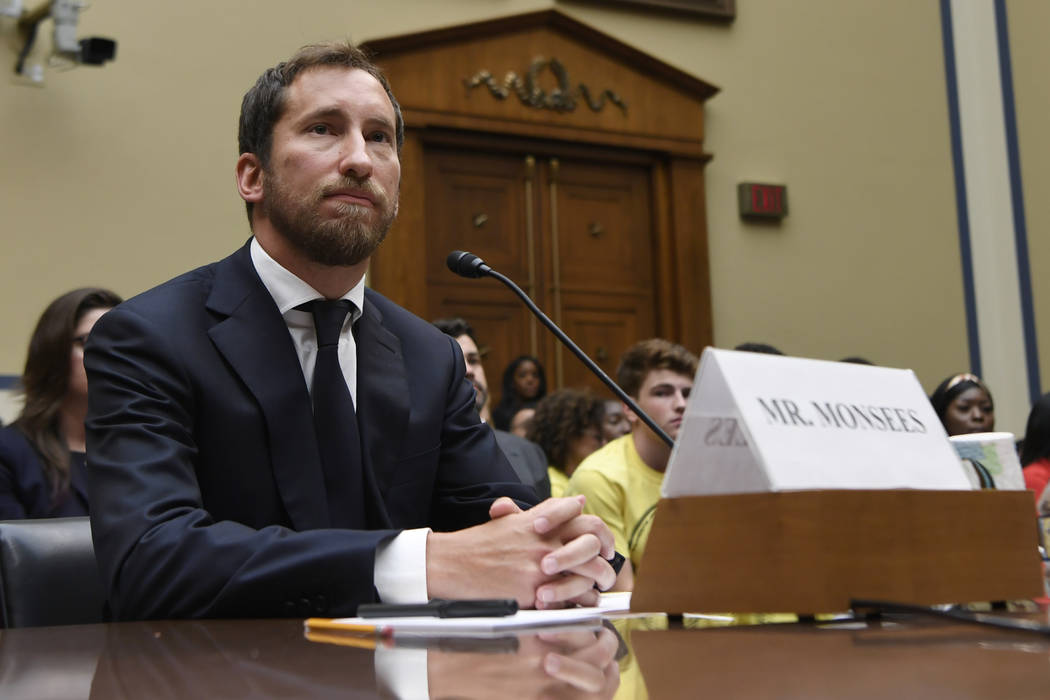 JUUL Labs co-founder and Chief Product Officer James Monsees testifies before a House Oversight ...