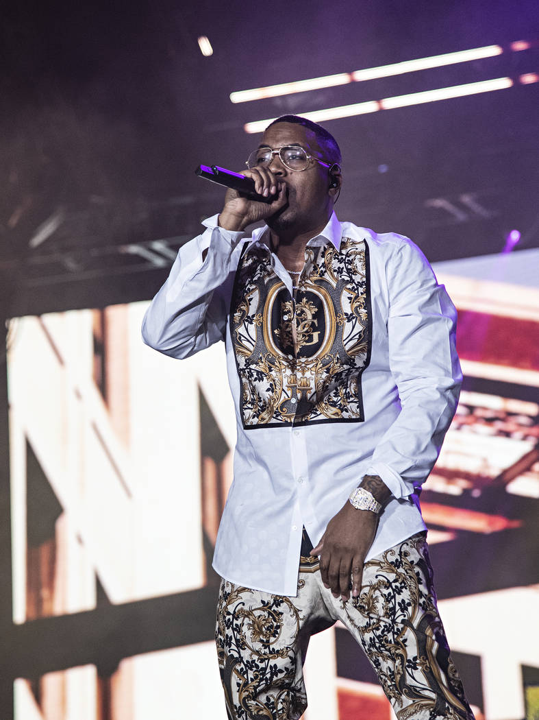 Nas performs at the 2019 Essence Festival at the Mercedes-Benz Superdome, Saturday, July 6, 201 ...