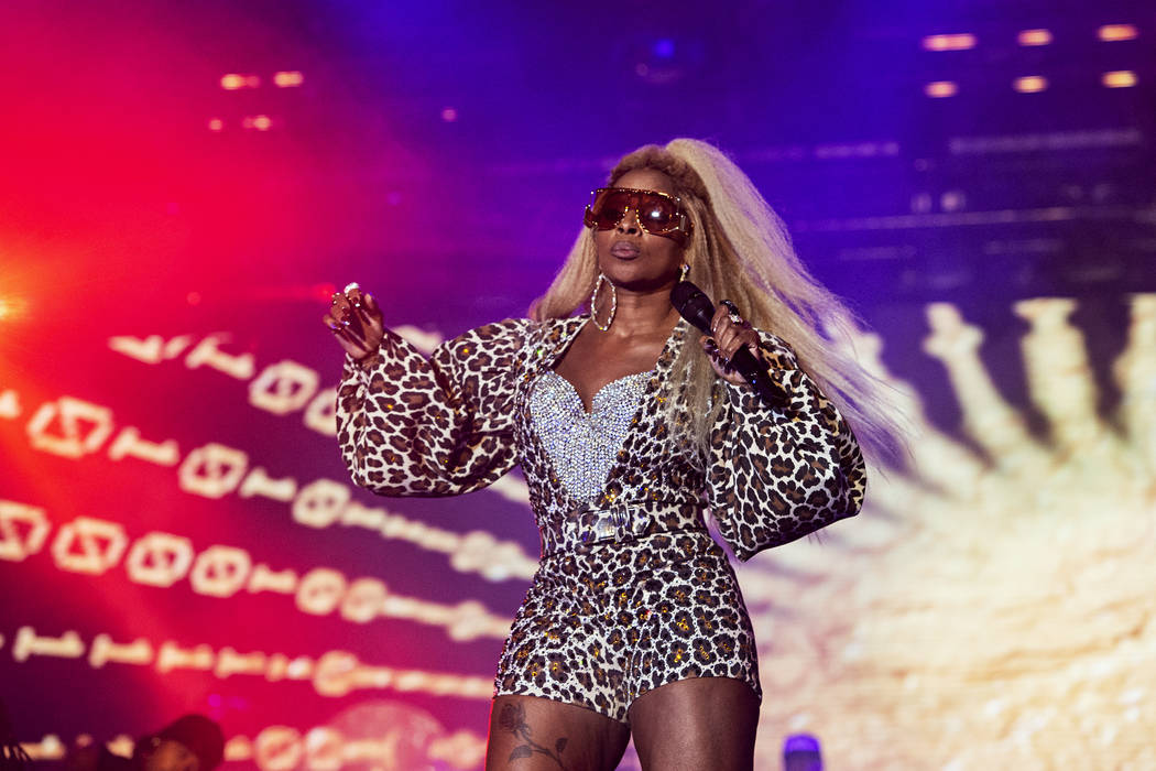 Mary J. Blige performs at the 2019 Essence Festival at the Mercedes-Benz Superdome, Saturday, J ...