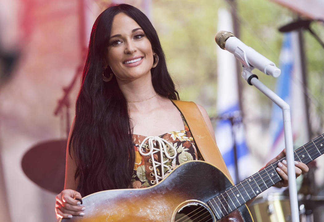 Kacey Musgraves performs on NBC's Today show at Rockefeller Plaza on Friday, July 19, 2019, in ...