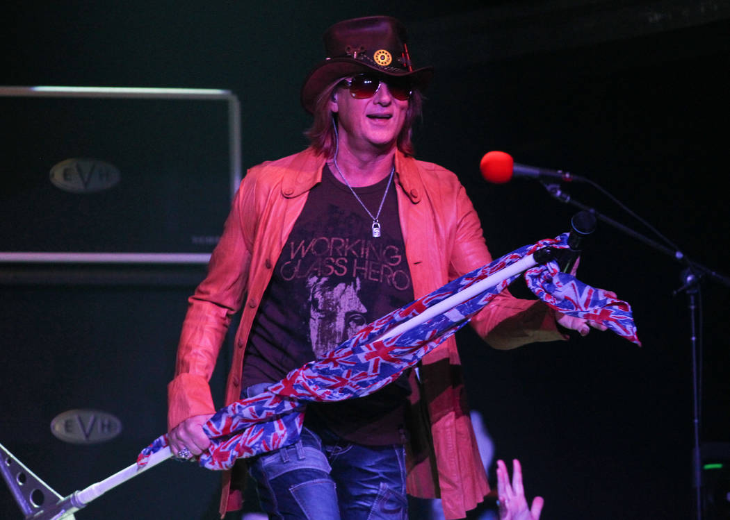 Def Leppard frontman Joe Elliott performs during the first show of the band's residence at The ...