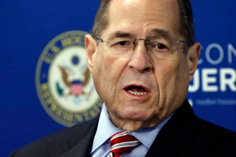U.S. Rep. Jerrold Nadler, D-NY, Chairman of the House Judiciary Committee, speaks during a news ...