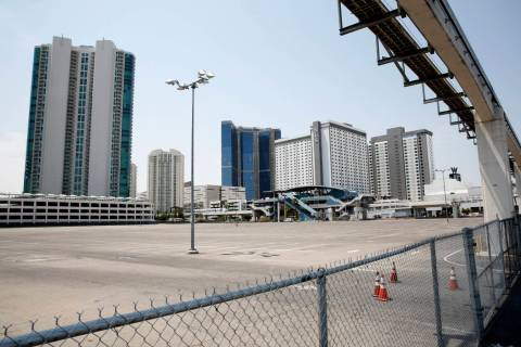 A vacant property at the corner of Sahara Avenue and Paradise Road, which was purchased by the ...