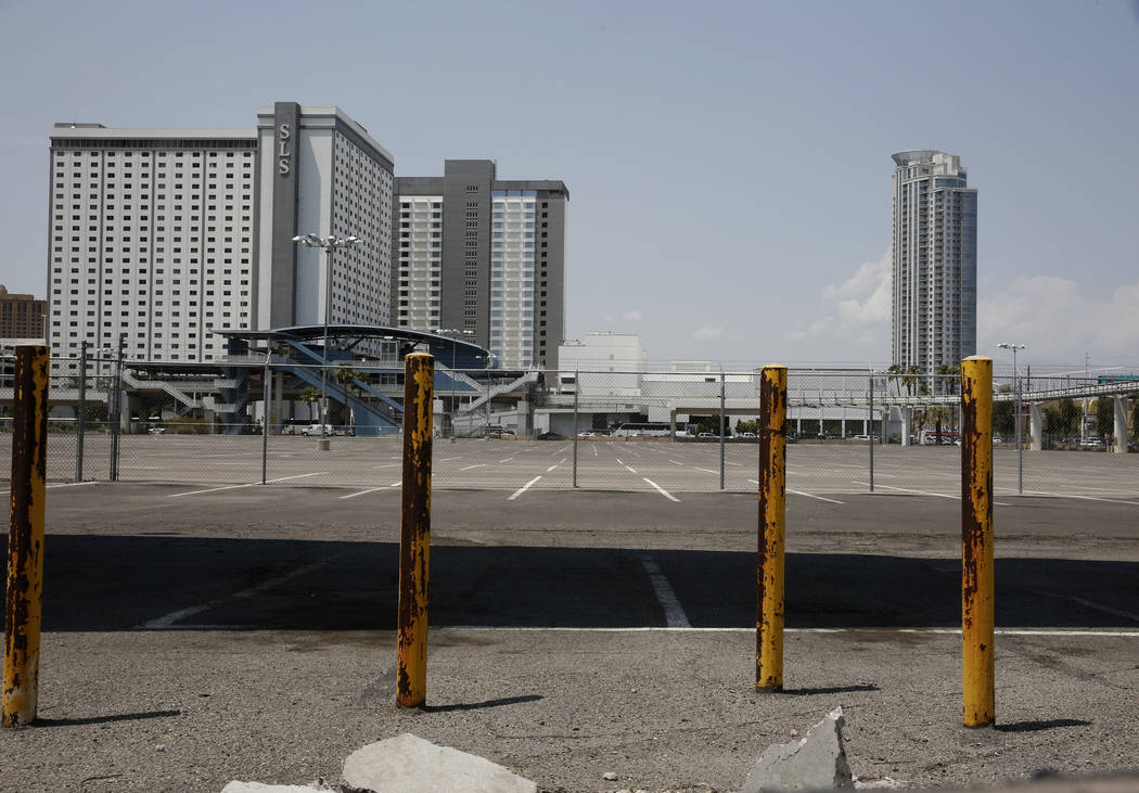 A vacant property next to the SLS Las Vegas at the corner of Sahara Avenue and Paradise Road ph ...