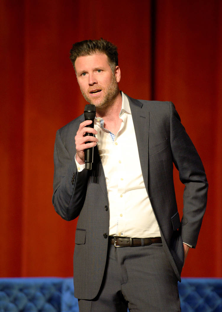 Kurt Melien, president of Live Nation Las Vegas, introduces Il Divo at The Venetian on Tuesday, ...