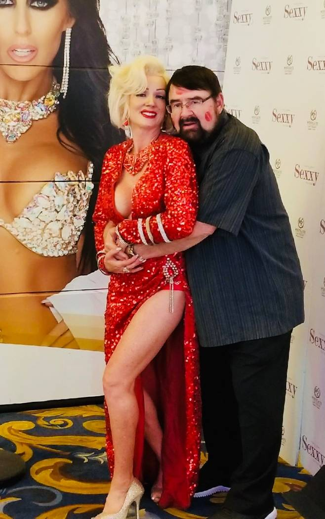 John Romas is shown with Marilyn Monroe tribute artist Stacey Nicole Weir at Westgate Cabaret o ...