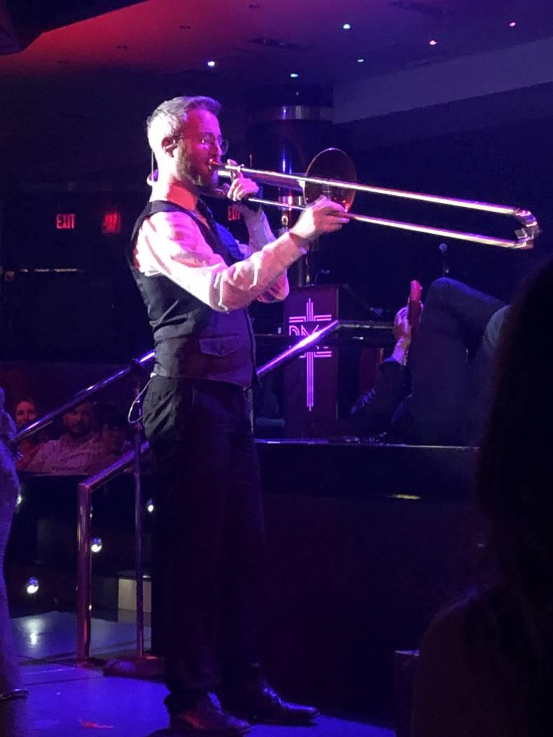 """Andrew Boostrom performs during the finale of """"Scott Bradlee's Postmodern Jukebox Hideaway"""" on ..."""