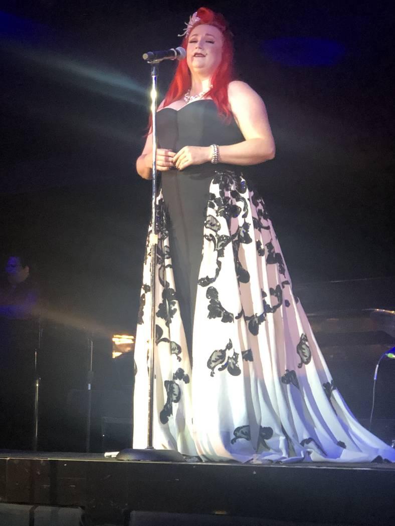 """Dani Armstrong performs during the finale of """"Scott Bradlee's Postmodern Jukebox Hideaway"""" on S ..."""