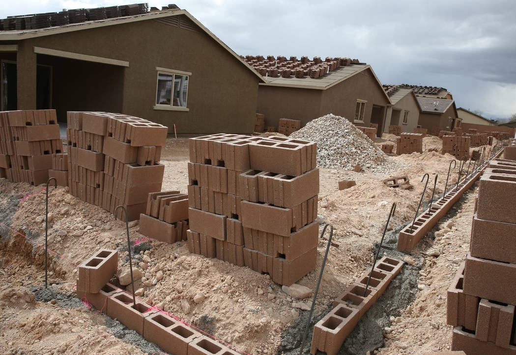 The new construction site of LGI Homes at the Intersection of E. Lake Mead Boulevard and Dolly ...