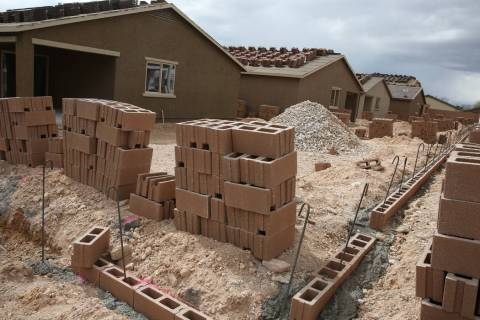 The new construction site of LGI Homes at the Intersection of East Lake Mead Boulevard and Doll ...