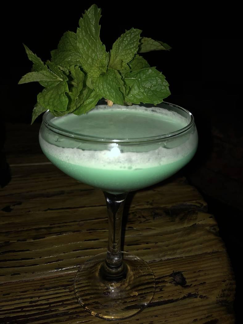 A classic grasshopper cocktail at Golden Tiki (Al Mancini Las Vegas Review-Journal)