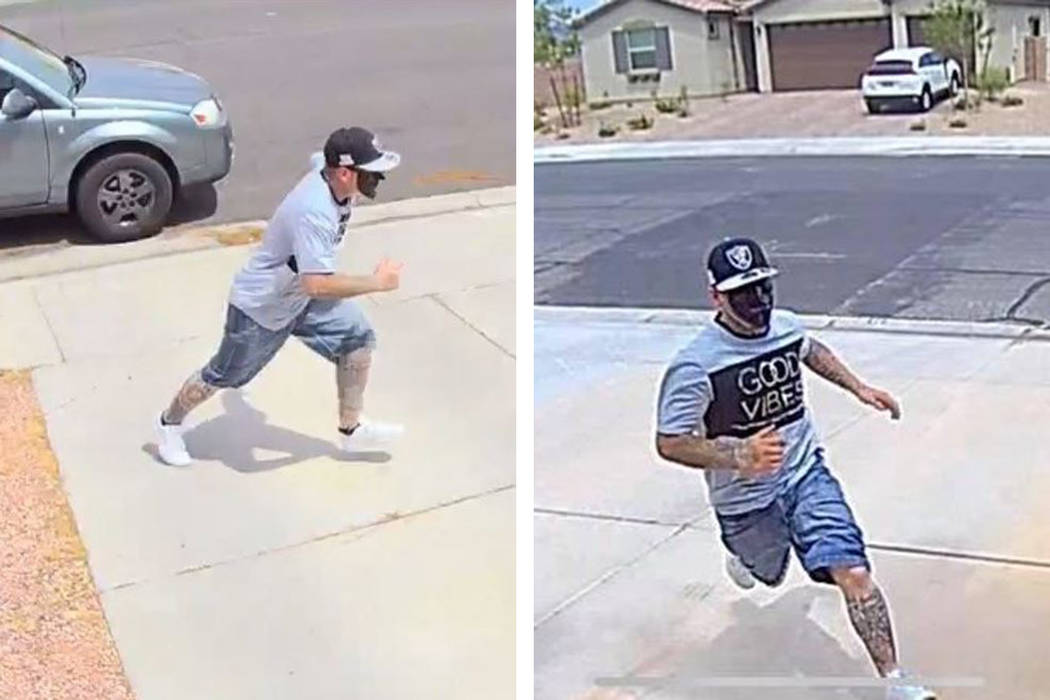 """A person wearing a black mask is the suspect in a """"porch pirate"""" theft in the northwe ..."""