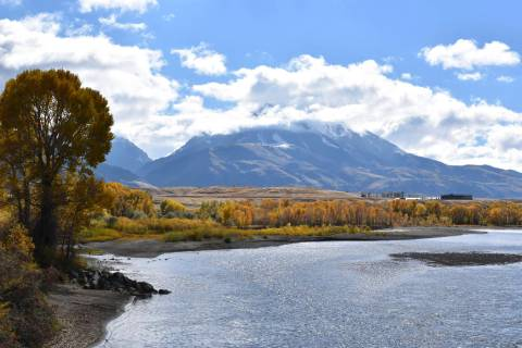 An Oct. 8, 2018, file photo, shows emigrant Peak rising above the Paradise Valley and the Yello ...