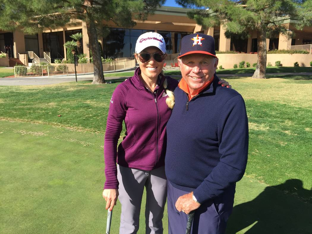 Natalie Gulbis, who hosted her annual charity tournament at Spanish Trail on Tuesday to benefit ...