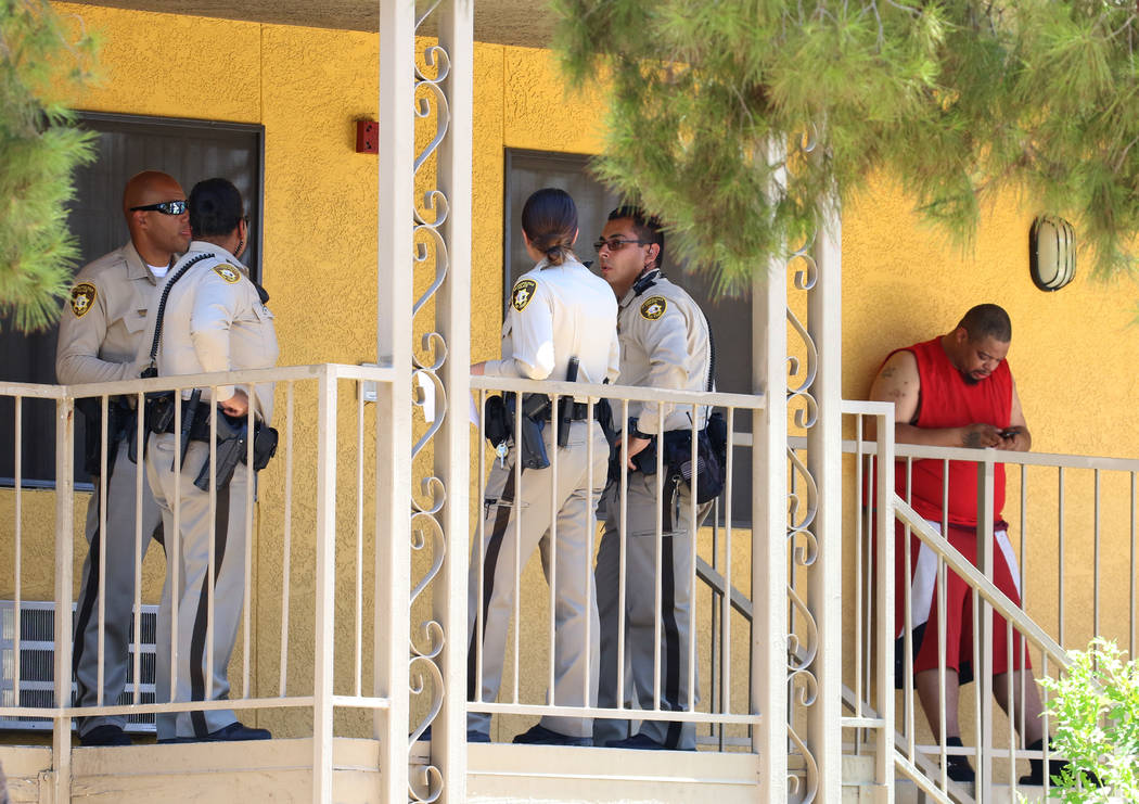 Las Vegas police are investigating a womanճ death following a domestic disturbance at Sie ...