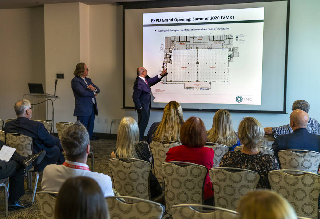 COO Greg Avitabile with the International Market Centers, right, speaks during a press conferen ...