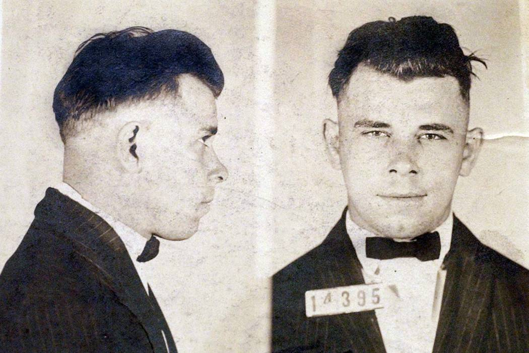 This file photo shows Indiana Reformatory booking shots of John Dillinger, stored in the state ...